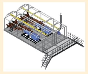 Рис. 11. 3D-модель блока насосной станции внешней перекачки