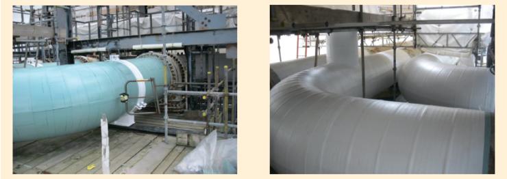 Рис. 11. Защита трубопроводов на нефтеперерабатывающих заводах
