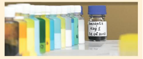 Рис. 2. Концентраты маркеров-репортеров для внедрения в полимерную оболочку проппанта