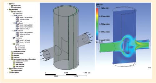 Рис. 4. Оценка гидравлического сопротивления фильтра и качества проточной части
