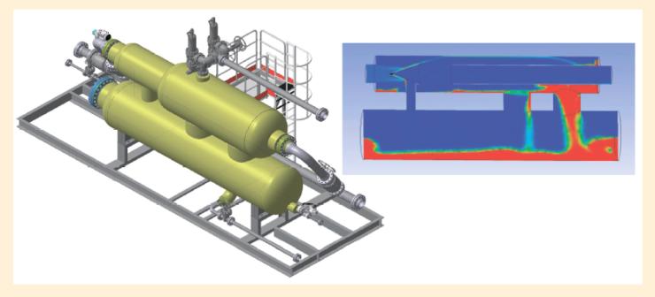 Рис. 6. Моделирование сепарационного оборудования
