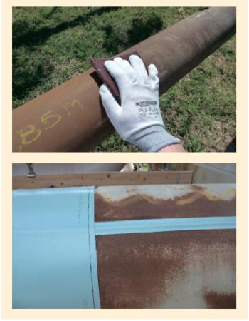 Рис. 6. Предварительная подготовка поверхности перед нанесением покрытия Stopaq