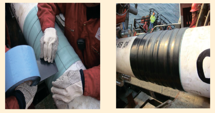 Рис. 8. Антикоррозионная защита подводных трубопроводов