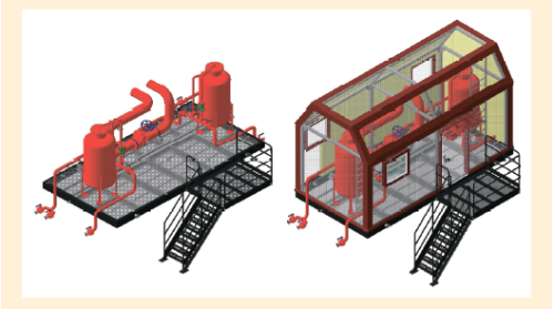 Рис. 9. 3D-модель блока пожаротушения