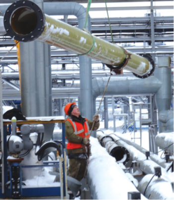 Обвязка временной фильтрационной установки центрального пункта сбора нефти ООО «Нарьянмарнефтегаз»