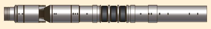 Рис. 20. Пакер ПРО-ЯВЖ (Т) с упором на забой с верхним механическим якорем