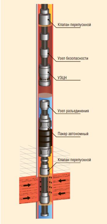 Рис. 5. Компоновка 1ПРОК-УОА-1 для снижения обводненности