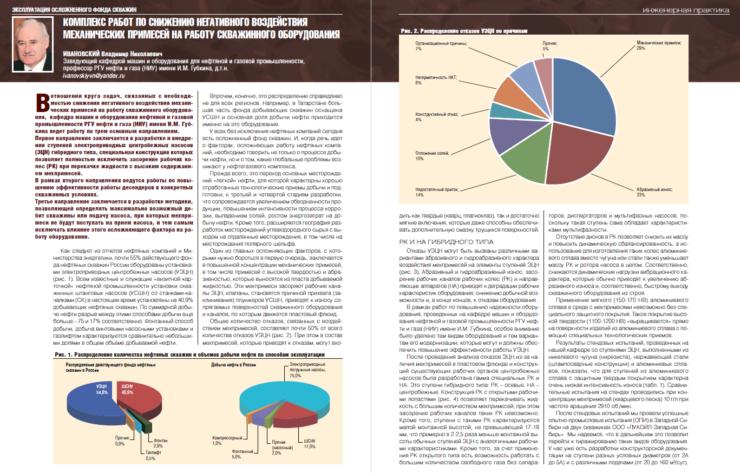 Комплекс работ по снижению негативного воздействия механических примесей на работу скважинного оборудования