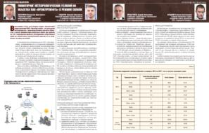Мониторинг метеорологических условий на объектах ПАО «Оренбургнефть» в режиме онлайн