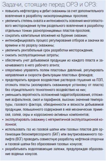 Задачи, стоящие перед ОРЭ и ОРЗ: