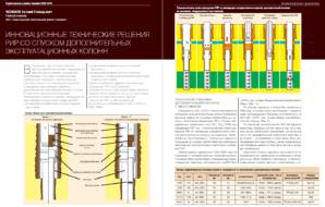 Инновационные технические решения РИР со спуском дополнительных эксплуатационных колонн