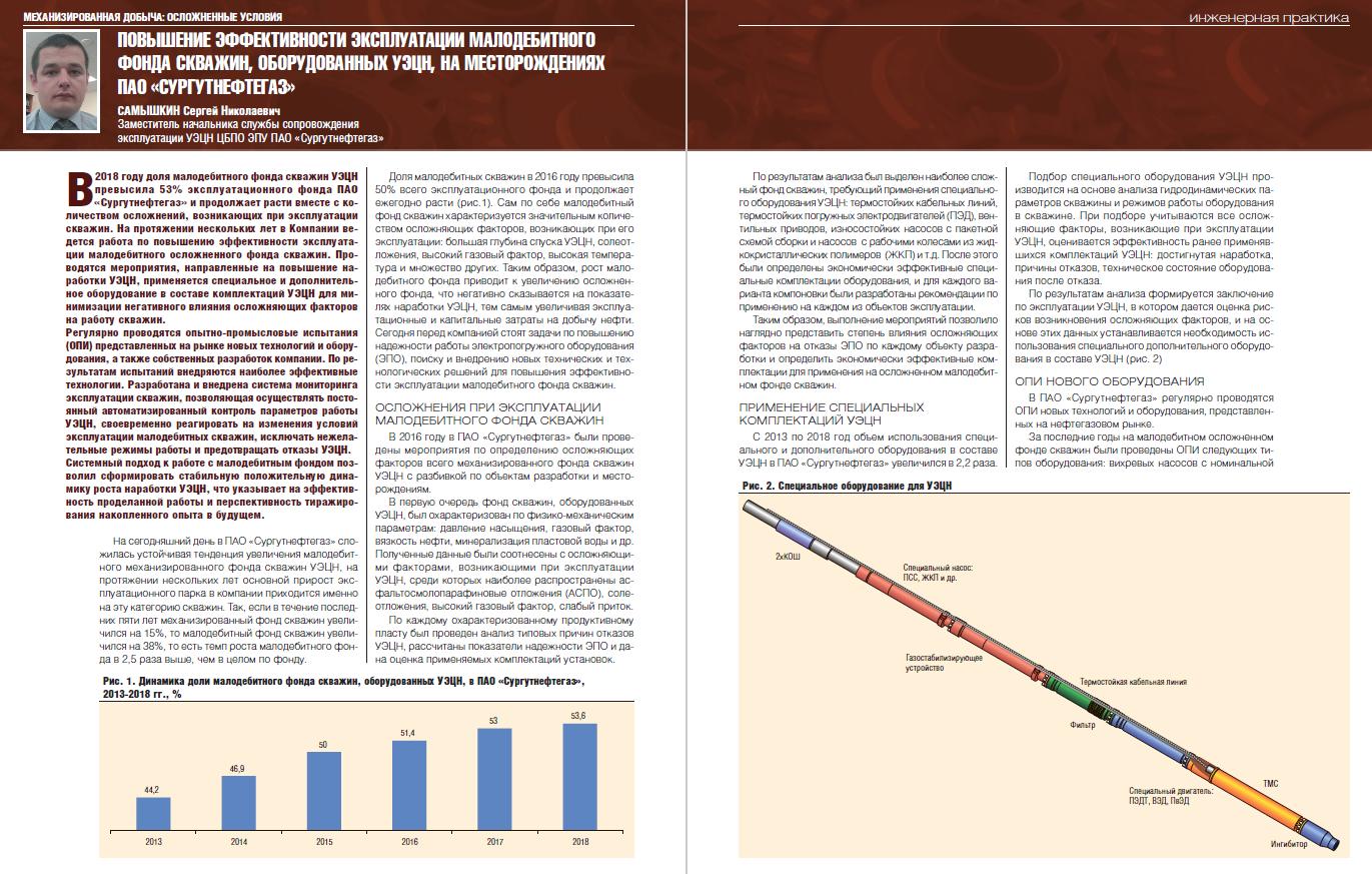 24000 Повышение эффективности эксплуатации малодебитного фонда скважин, оборудованных УЭЦН, на месторождениях ПАО «Сургутнефтегаз»