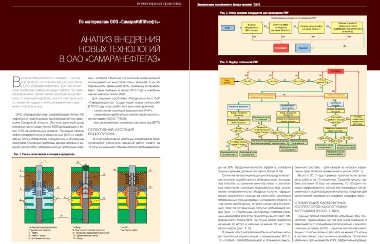 Анализ внедрения новых технологий в ОАО «Самаранефтегаз»