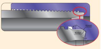 Конструкция резьбового соединения ТМК FМТ: Герметизирующий узел