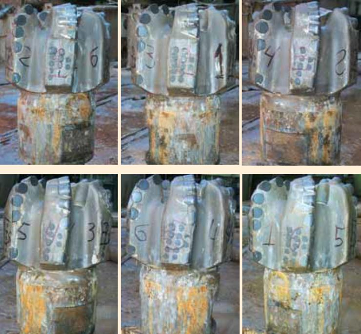 Рис. 4б. Долота 152,4 FX64 Halliburton, применяемые на Кыртаельском месторождении