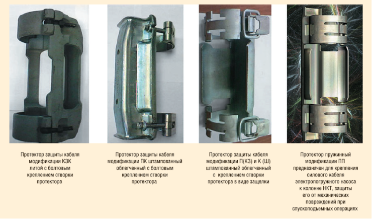 Рис. 7. Виды протекторов, применяемых в ОАО «Газпромнефть-Ноябрьскнефтегаз»