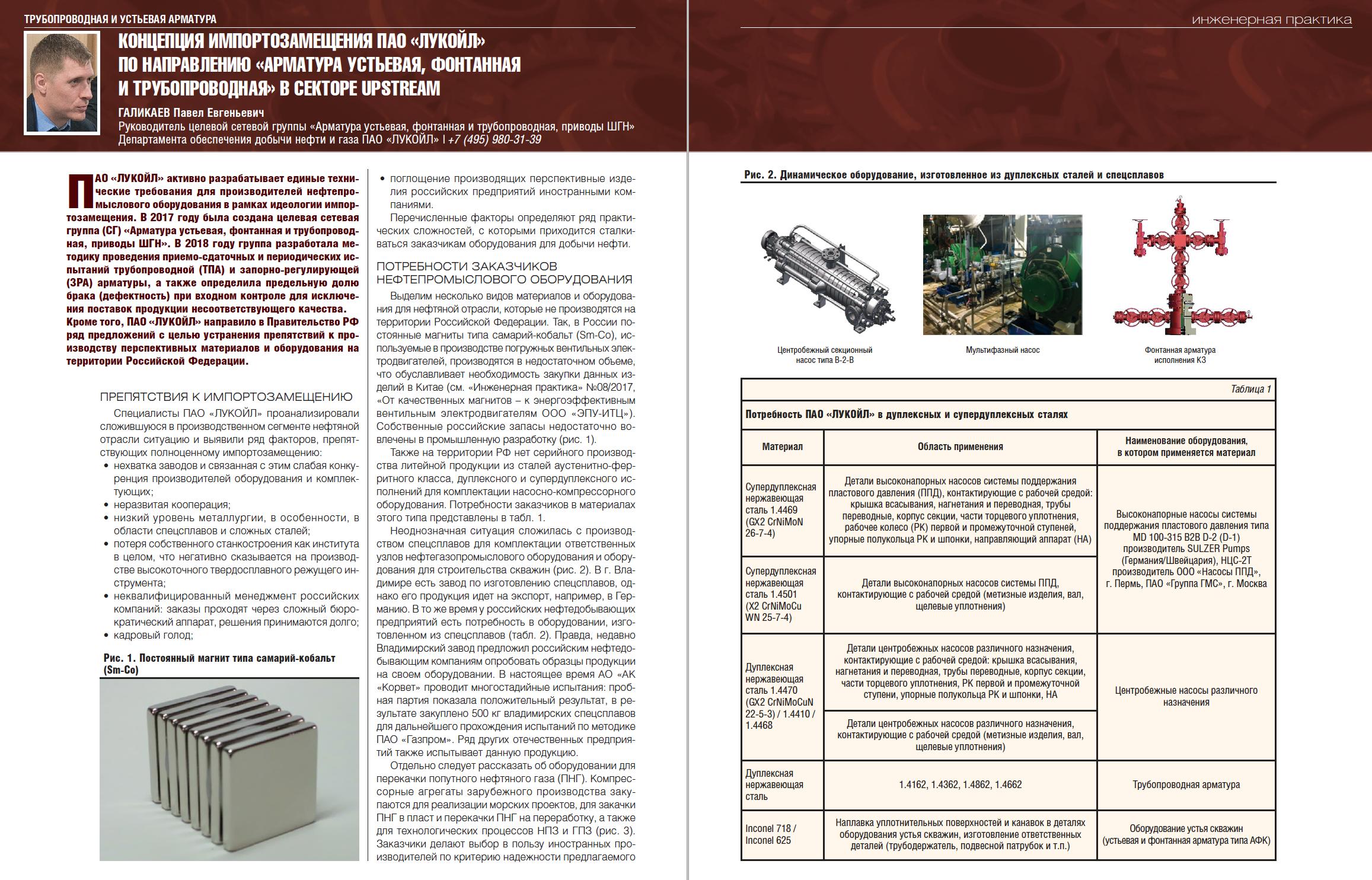 28997 Концепция импортозамещения ПАО «ЛУКОЙЛ» по направлению «Арматура устьевая, фонтанная и трубопроводная» в секторе Upstream