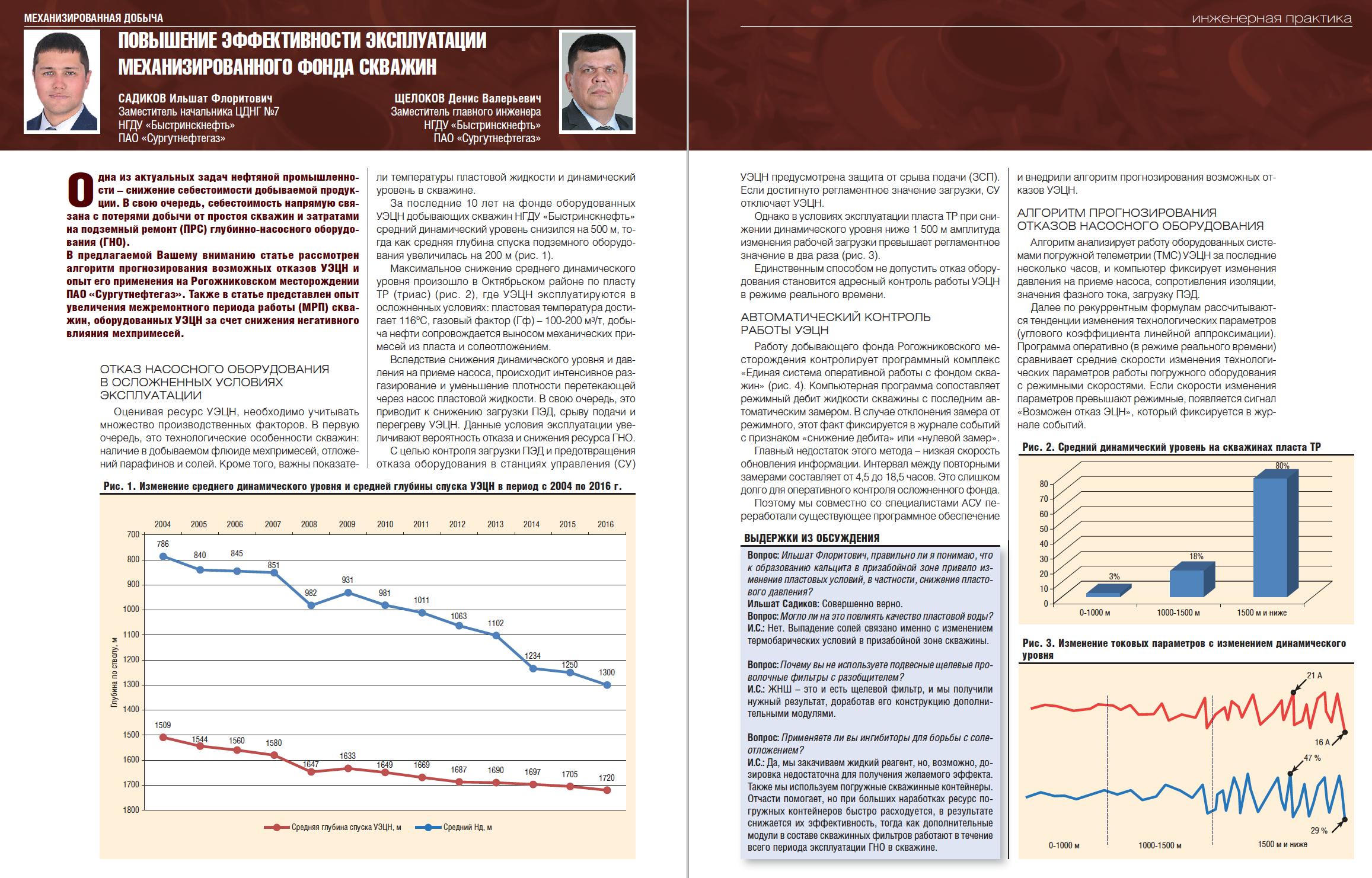 29158 Повышение эффективности эксплуатации механизированного фонда скважин