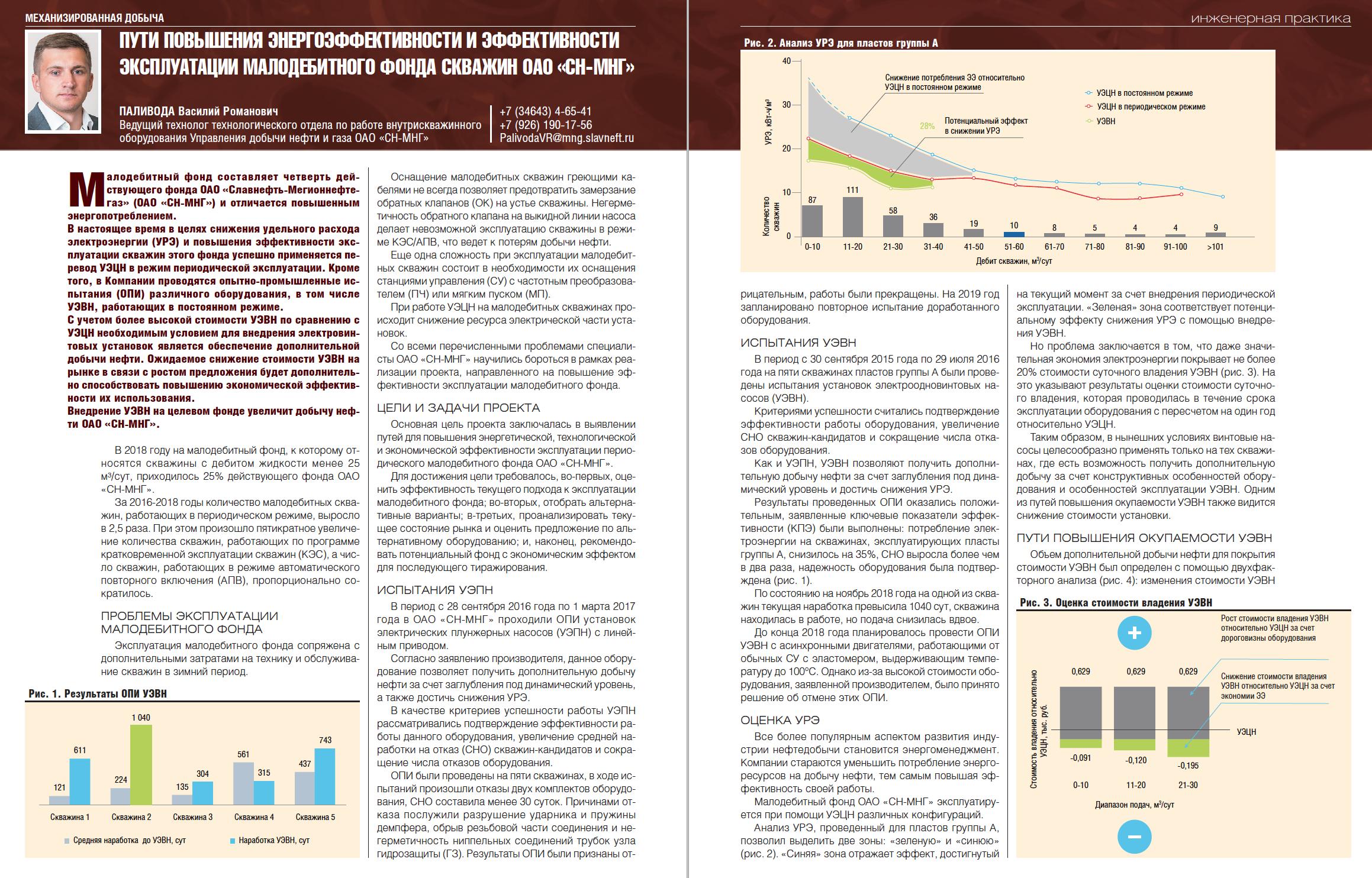 29013 Пути повышения энергоэффективности и эффективности эксплуатации малодебитного фонда скважин ОАО «СН-МНГ»