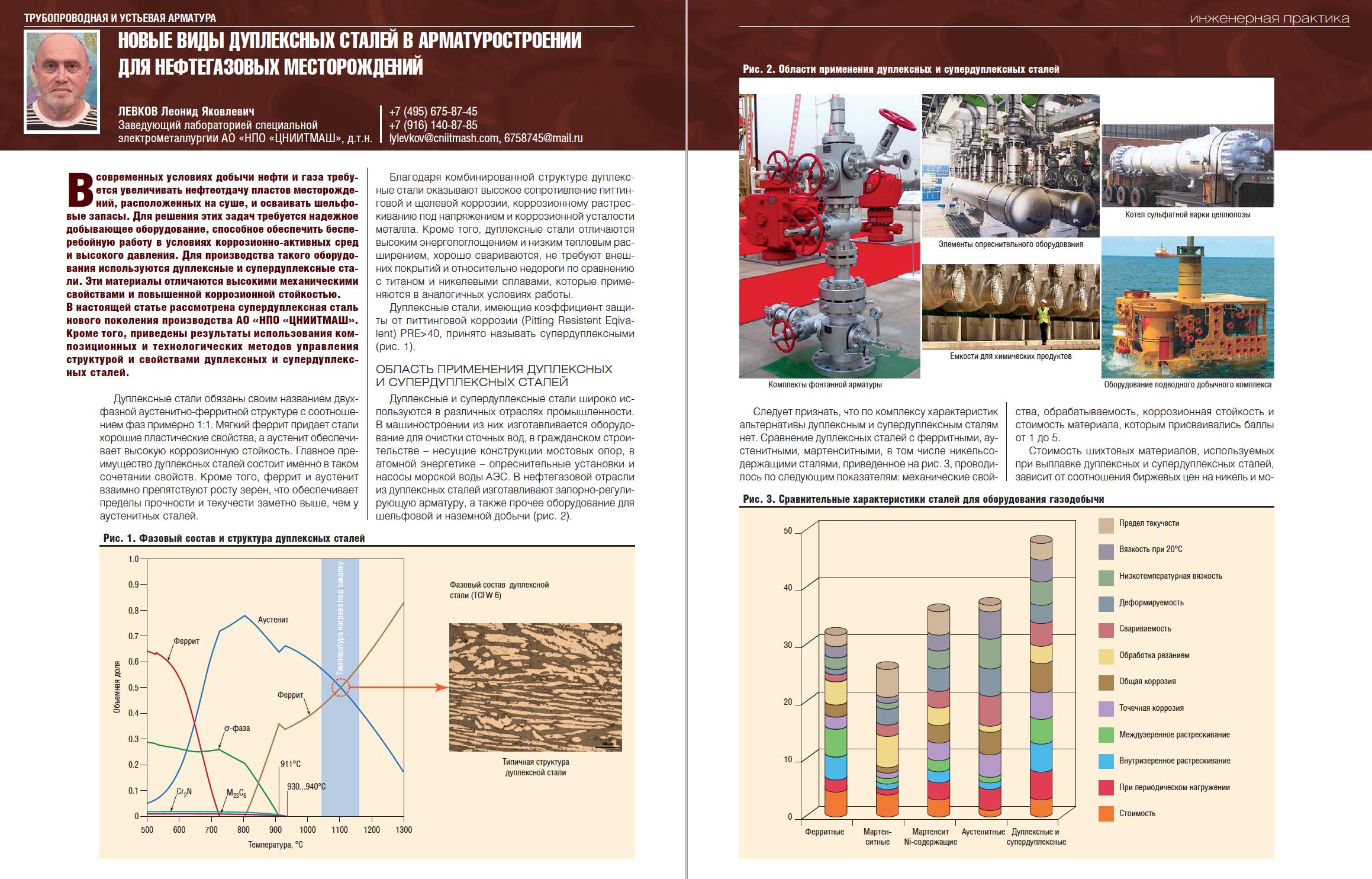 29356 Новые виды дуплексных сталей в арматуростроении для нефтегазовых месторождений