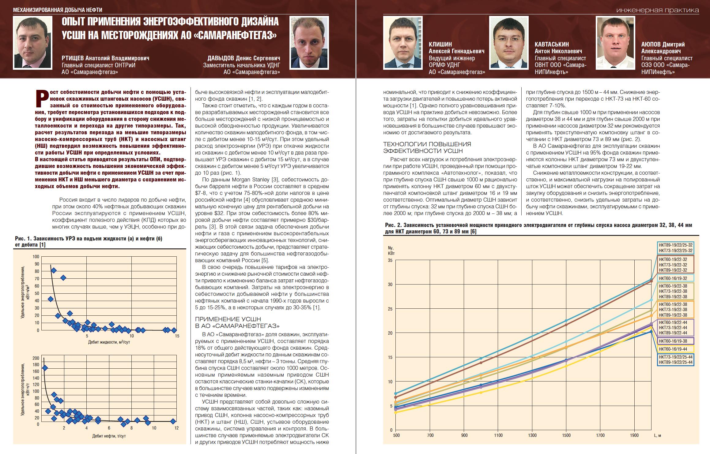 30374 Опыт применения энергоэффективного дизайна УСШН на месторождениях АО «Самаранефтегаз»