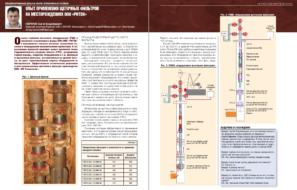 Опыт применения щеточных фильтров на месторождениях ООО «РИТЭК»