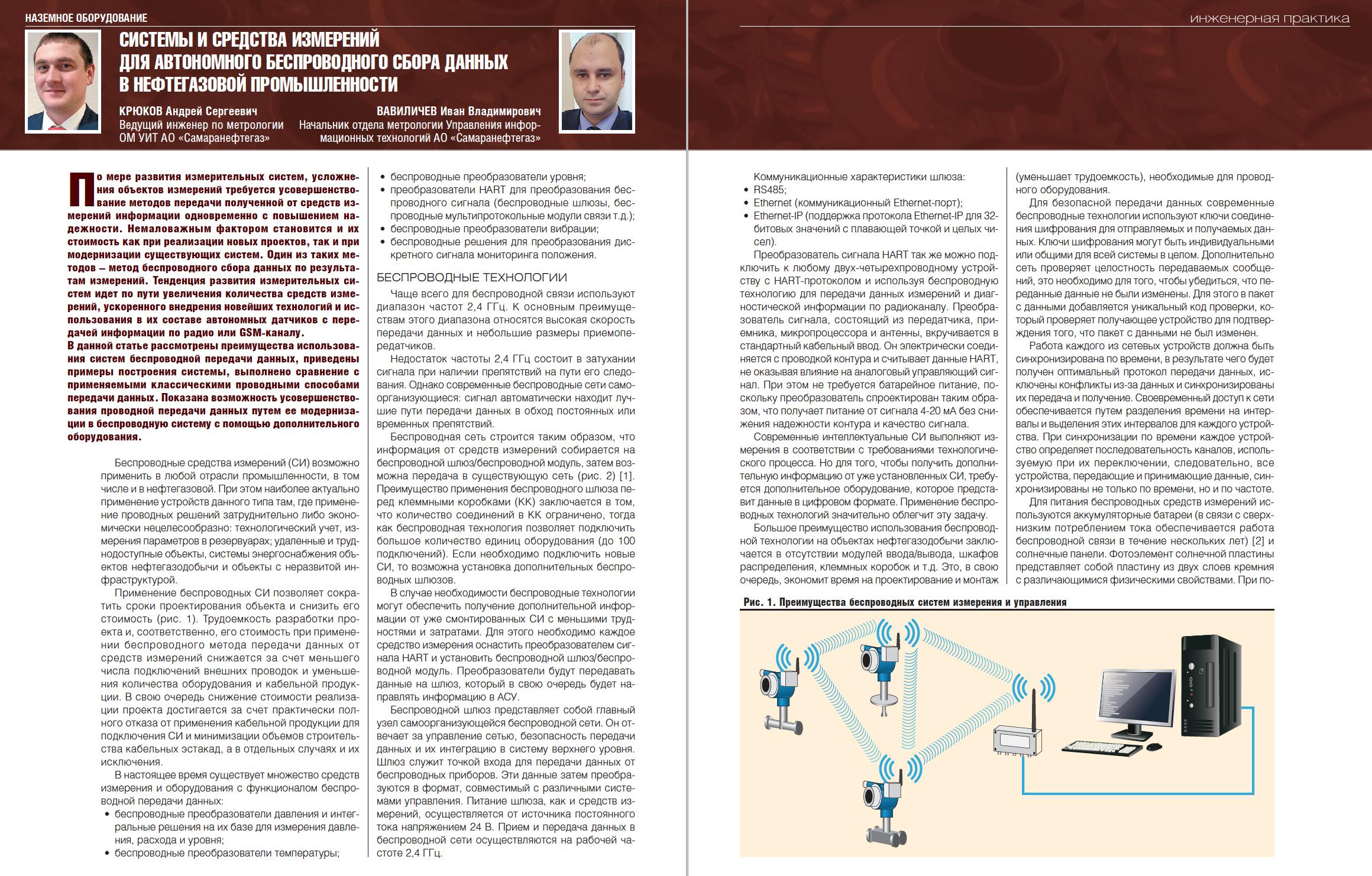 31390 Системы и средства измерений для автономного беспроводного сбора данных в нефтегазовой промышленности