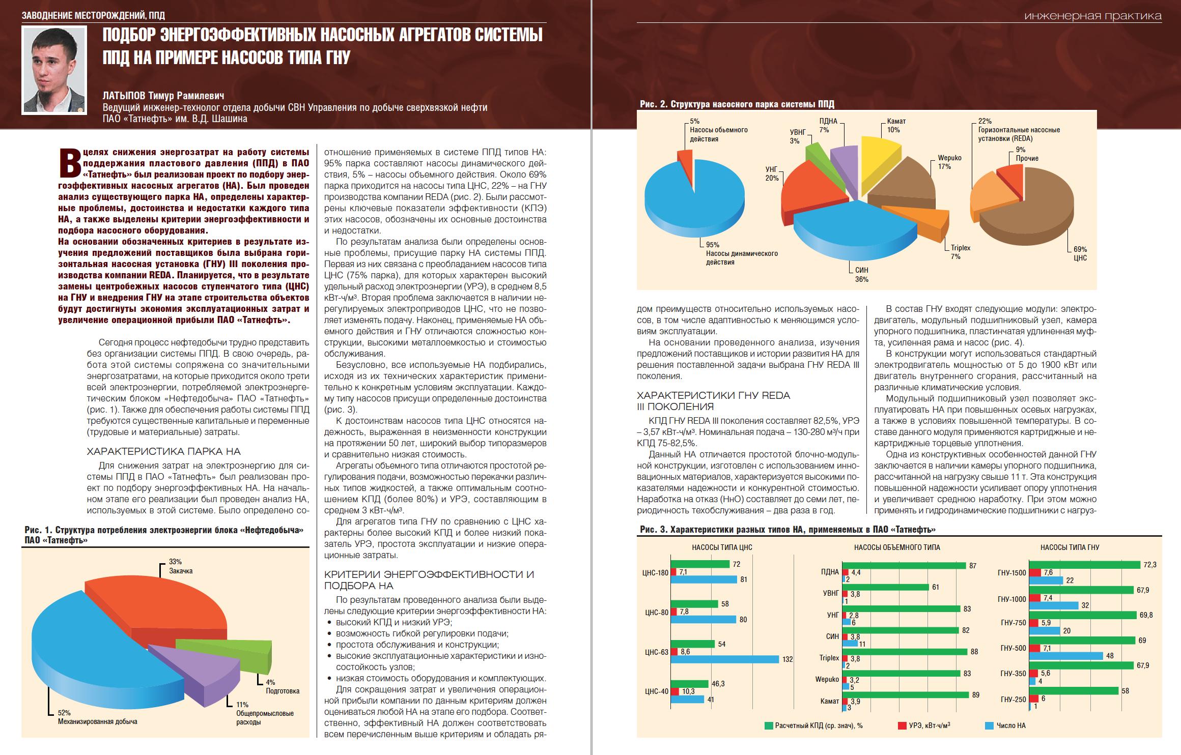 31789 Подбор энергоэффективных насосных агрегатов системы ППД на примере насосов типа ГНУ